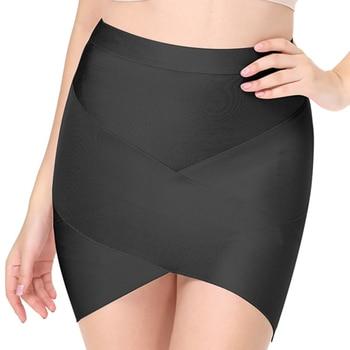 Seamyla 2019 New Fashion Women Skirts Sexy Celebrity Party Bodycon Bandage Pencil Skirt Night Out Club Mini Skirts Wholesale 4