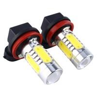 2pcs Set Xenon White H11 High Power LED Projector Bulb For Car Driving Fog Light Auto