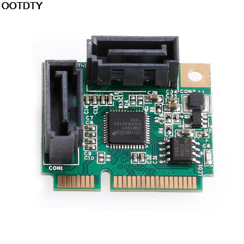 Mini PCI-Express PCIe to 2 Ports SATA 3.0 III 6Gb/s Expansion Card Single Chip - L059 New hot