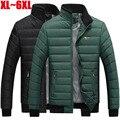 Tamaño grande 5XL 6XL 7XL hombres chaqueta ocasional de la marca de ropa de invierno thichen caliente parka chaqueta de los hombres abrigos de vestir exteriores de los hombres DJ010
