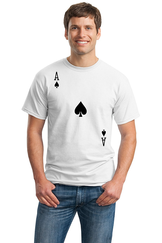Retro Tee Shirts New Style Men Crew Neck Ace Of Spades Short Sleeve Tee Shirt ...