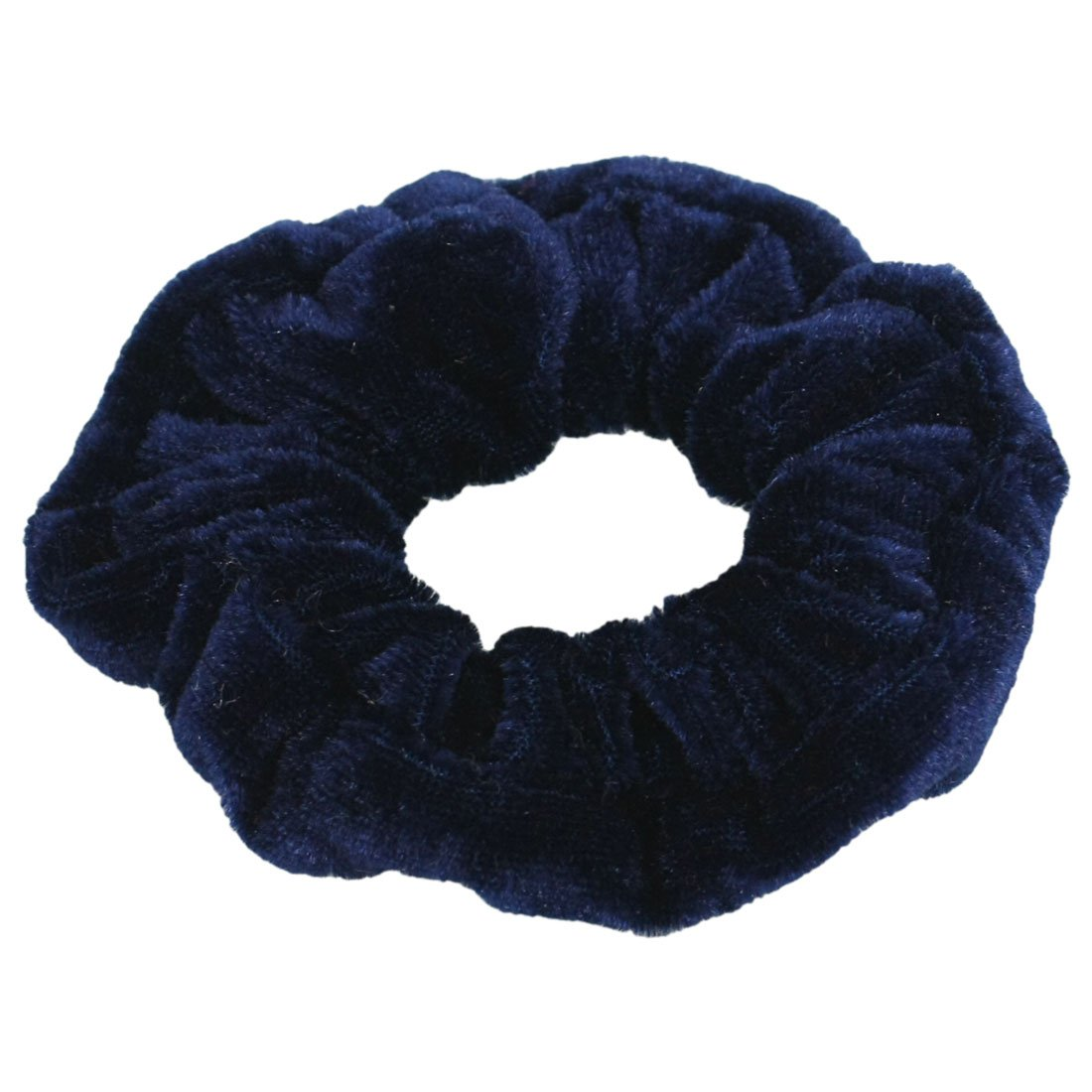 Darkblue Velvet Elastic Hair Tie Band Ponytail Holder for Women