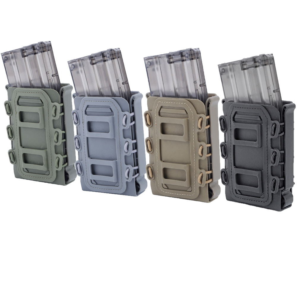 5.56mm 7.62mm Fast Mag Pouch Tactical Magazine Pouch Holster Molle Belt Fast Attach Carrier Holster 5.56 7.62 Pouch