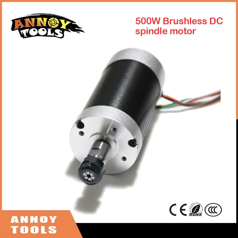 500W ER11-3.175mm 12000rpm Brushless DC spindle motor 24V 55mm diameter CNC Carving Milling Air cold Spindle Motor For Engraving 450w cnc dc spindle motor and speed control board 48vdc 12000rpm dc air cooling 0 42nm er11 for diy carving pcb milling machine