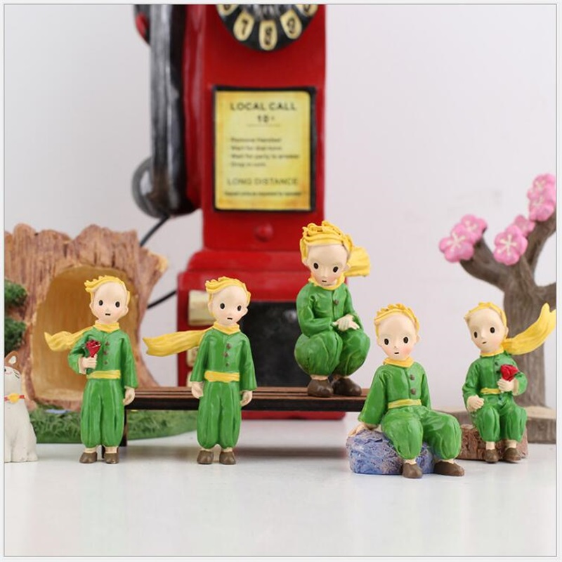 The Little Prince Rose Action Figure Toys Ornaments Home Decoration Collection Kids Toys Christmas Birthday Gif