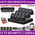 16 channel home security 600TVL video surveillance outdoor camera kit CCTV HDMI 1080P DVR recording CCTV system 16ch