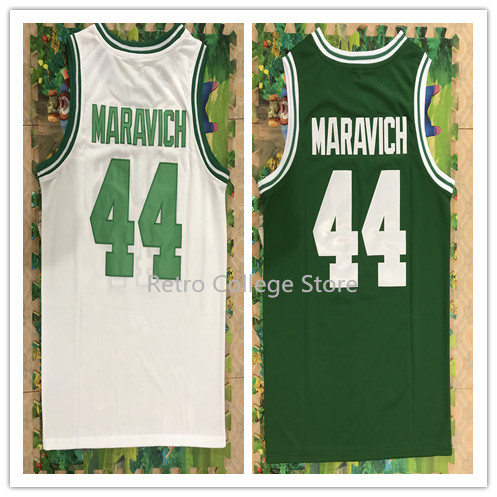 44 Pete Maravich Retro throwback stitched embroidery basketball jerseys Customize any number and name green white jerseys tbk 928 lcd dismantle machine manual a frame separator for samsung touch screen refurbish equipments
