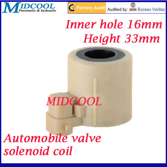 car solenoid valve coil connector plug type 24V DC inner hole diameter 16mm high 33mm for Automobile