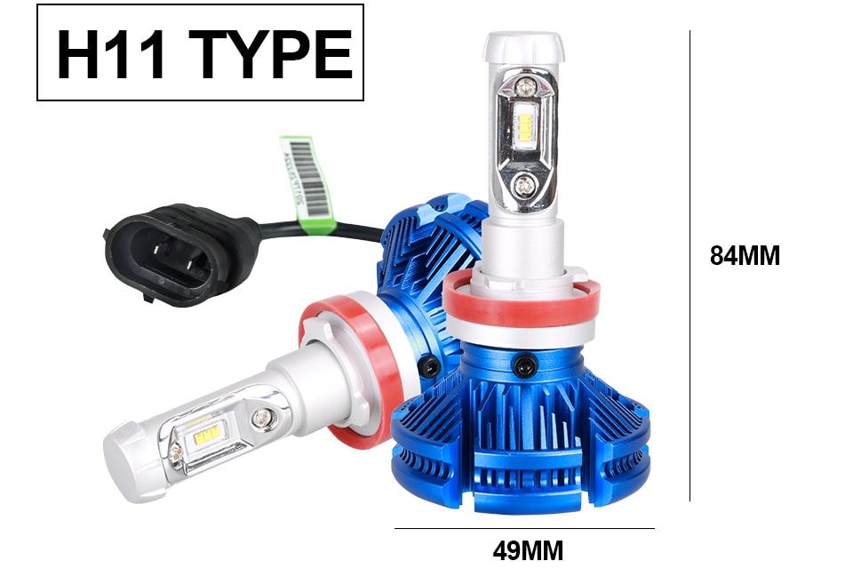 H4 Led CSP Chips H7 LED Headlights Auto-styling Led Car Bulb H1 H11 Fog Lamp Fanless (16)