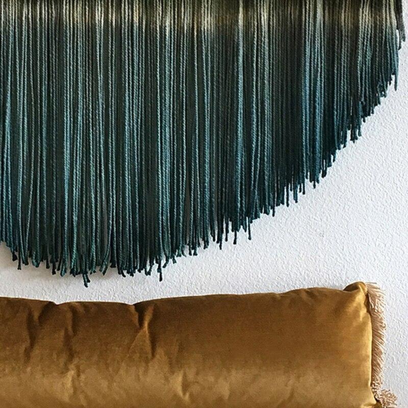 Mandala macramé pared tejido tapiz tejido hecho a mano Banner Tapisserie artesanía Hogar, dormitorio pared Decoración - 3