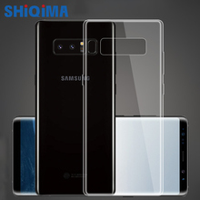 For Samsung note8 Case S6 S7 edge note5 S8 S9 plus S3 I9300 A5 J5 2017 Transparent Ultra-thin Soft TPU Clear Luxury Back Cover