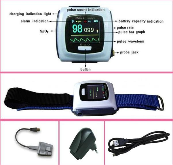 CONTECMED Contec Wrist pulse oximeter Fingertip Color OLED Display SpO2 Probe