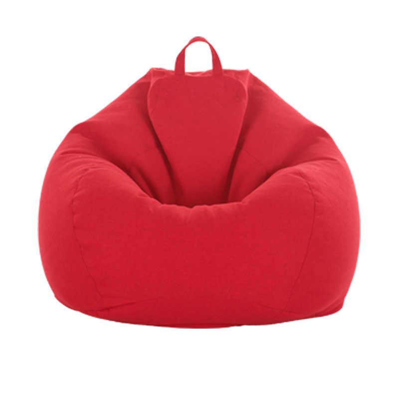 Een Set Bean Bag Cover Leisure Lui Slaapbank Geen Filler Bean Bag Stoel Woonkamer En Slaapkamer Couch Japanse tatami Bladerdeeg Banken