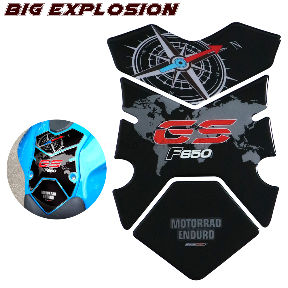 3D Stickers Motorcycle Fuel Gas Tank Pad Protector Case Motorcycle Stickers For BMW F650GS F650 GS 2008 2009 2010 2011 2012