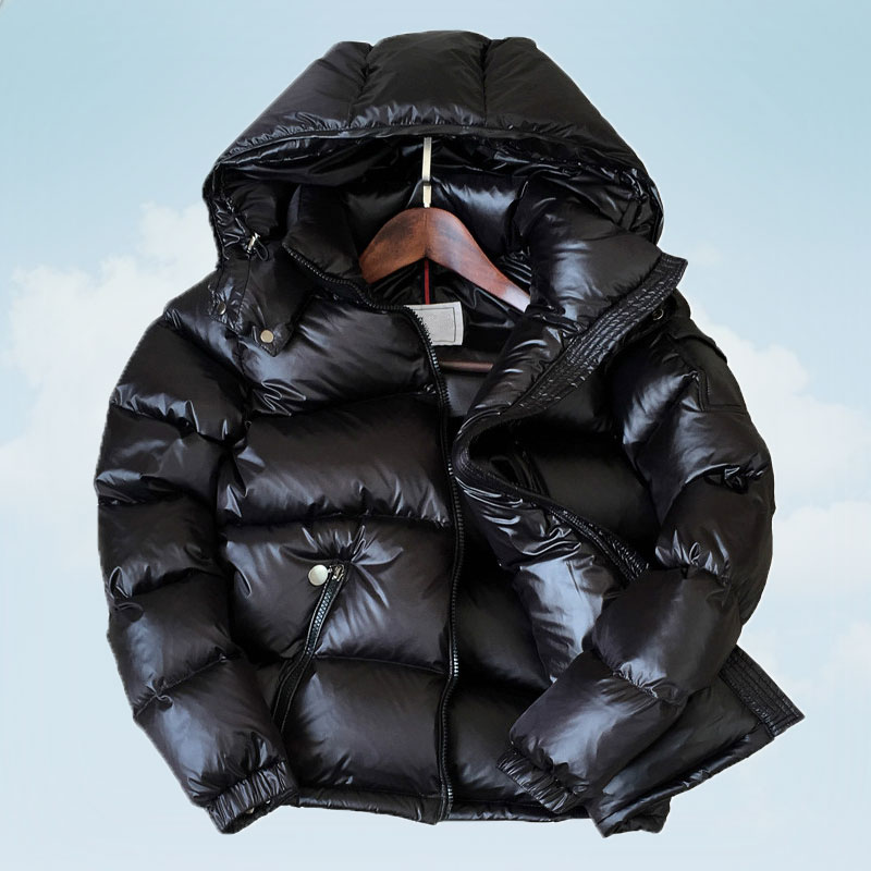 Kadın Giyim'ten Şişme Montlar'de 90% Beyaz Ördek Aşağı Ceket Kış Kadın Kalın Kısa Parlak Kapüşonlu Kore Palto kadın Ceketler Sıcak Dış Giyim Parka t592'da  Grup 1