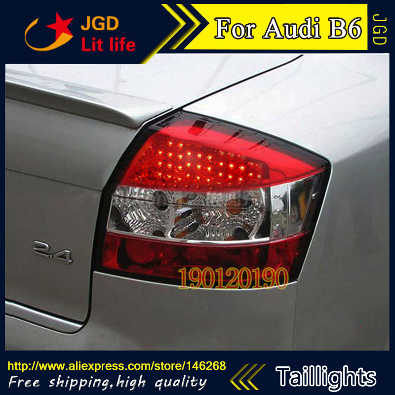 Car Styling tail lights for Audi B6 2001-2004 LED taillight Tail Lamp rear trunk lamp cover drl+signal+brake+reverse jgd brand new styling for audi a6 tail lights 2001 2004 mazda6 atenza led tail light rear lamp led drl singal car lights