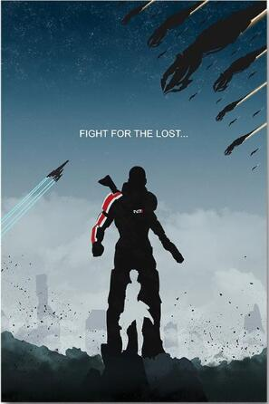 Mass Effect Game SILK POSTER Decorative Wall painting 24x36inch image