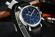 Дизайнер ailang мужчины платье часы кварцевые натуральная кожа световой наручные часы элегантный бизнес-член работоспособным суб-циферблат relojes nw3299