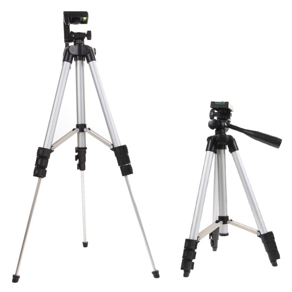 1 piezas 4 secciones 105 cm trípode de cámara Monopod titular del teléfono móvil soporte del trípode con bolsa para cámara DV video teléfonos inteligentes