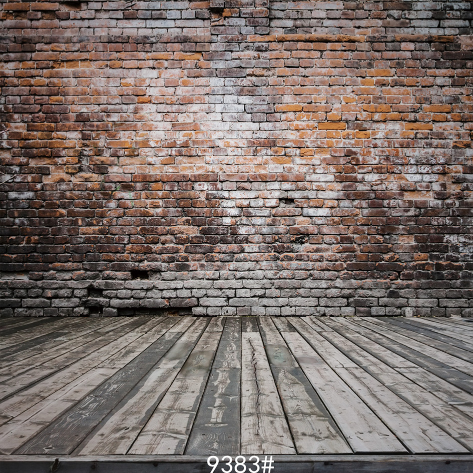 {All sizes} wood floor and bricks wall  photography backdrops background photo studio wallpaper decoration backdrop