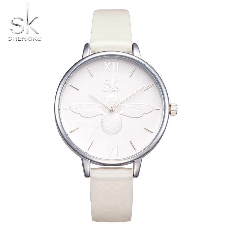 NEW SK Women Watch Top Luxury Brand Wristwatches Women Fashion Leisure Clock Relogio Feminino Leather Quartz Watch 2017 ShengKe 2017 new fashion tai chi cat watch casual leather women wristwatches quartz watch relogio feminino gift drop shipping