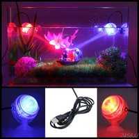 Indoor LED Underwater Lamp Waterproof LED Aquarium Light for Coral Reef Fish Tank Submersible Aquarium Light Spot Lamp