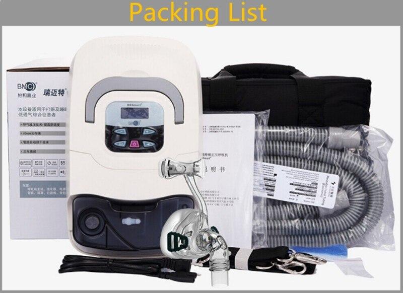 Doctodd GI CPAP maison médicale CPAP Machine pour l'apnée du sommeil OSAHS OSAS ronflement utilisateur avec masque casque Tube sac carte SD à l'intérieur - 6