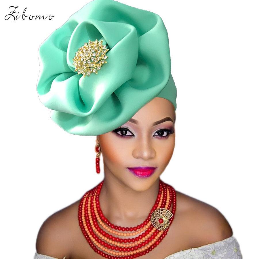 Turban headtie african turban cap aso oke gele ready to wear auto hele african lace auto gele aso ebi headtie 2018 new (7)