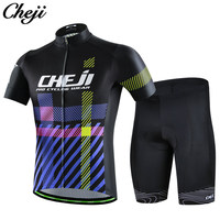 CHEJI Mens Cycling Clothing Pro Team Breathable Quick Dry Bike Jersey China Cheap Cycling Wear Short