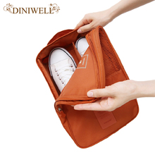 DINIWELL Nylon Waterproof Travel Shoe Storage Bag Outdoor Handle Mesh Pocket Shoes Organizer