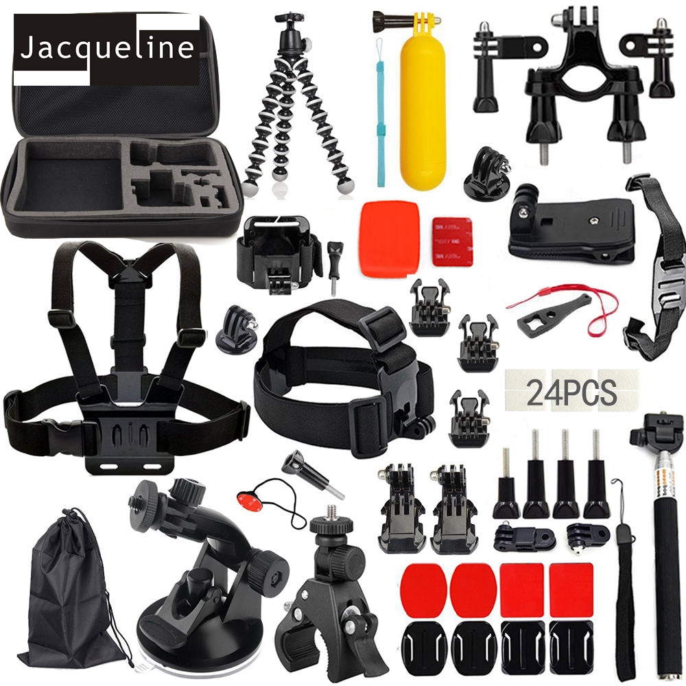 Jacqueline for Accessories Kit Set Bag pro Gopro HERO6 5 3+ 4 Session - Videokamery a fotoaparáty