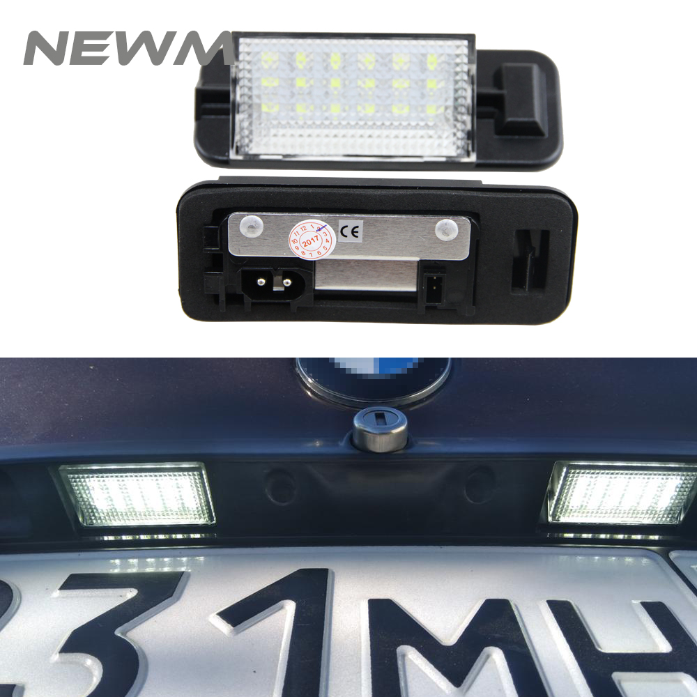 For <font><b>BMW</b></font> <font><b>E36</b></font> <font><b>Led</b></font> License Plate Light 2835 SMD 6000k White 12v Number Plate Lamp Bulbs For <font><b>BMW</b></font> <font><b>E36</b></font> 318i 318is 318ti 325i image