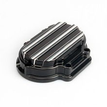 Free shipping Motorcycle Accessories Transmission Side Cover For Harley 2008 - 2013 Touring black