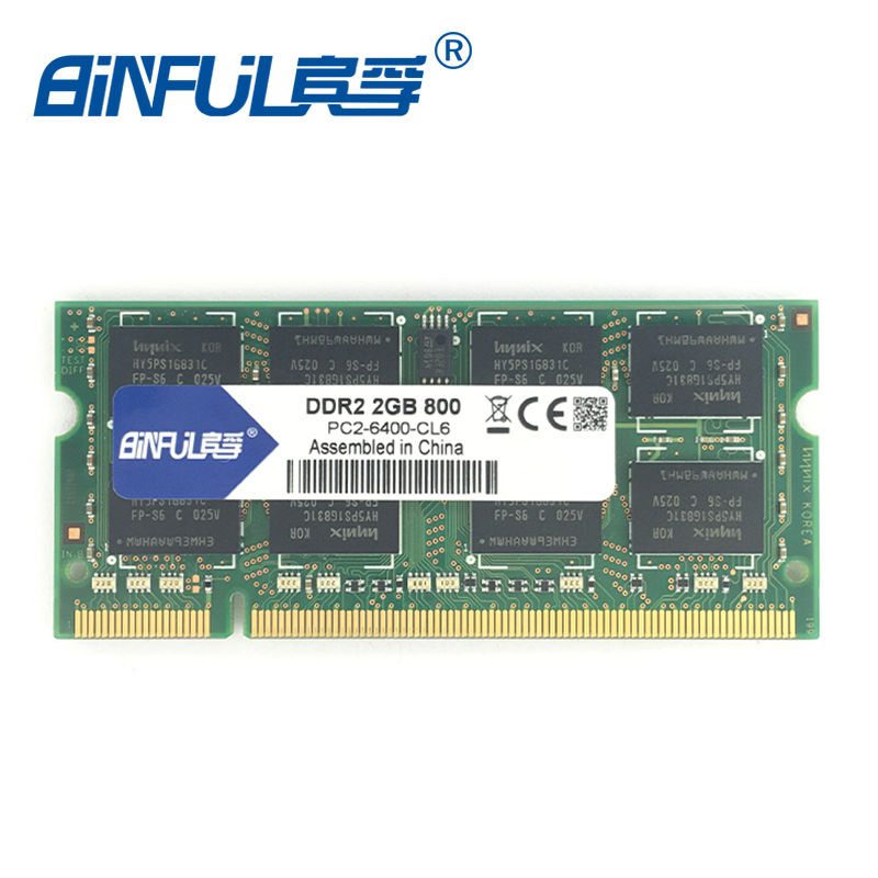 DDR2 2GB SODIMM 800MHz ram PC2-6400s 200pin notebook memory Compatible with 667mhz Original authentic ram
