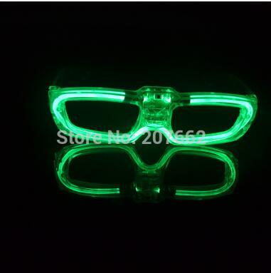 Мигающие очки светодиодный светящиеся вечерние светящиеся принадлежности освещение новинка подарок яркий свет фестиваль вечерние светящиеся очки - Цвет: green