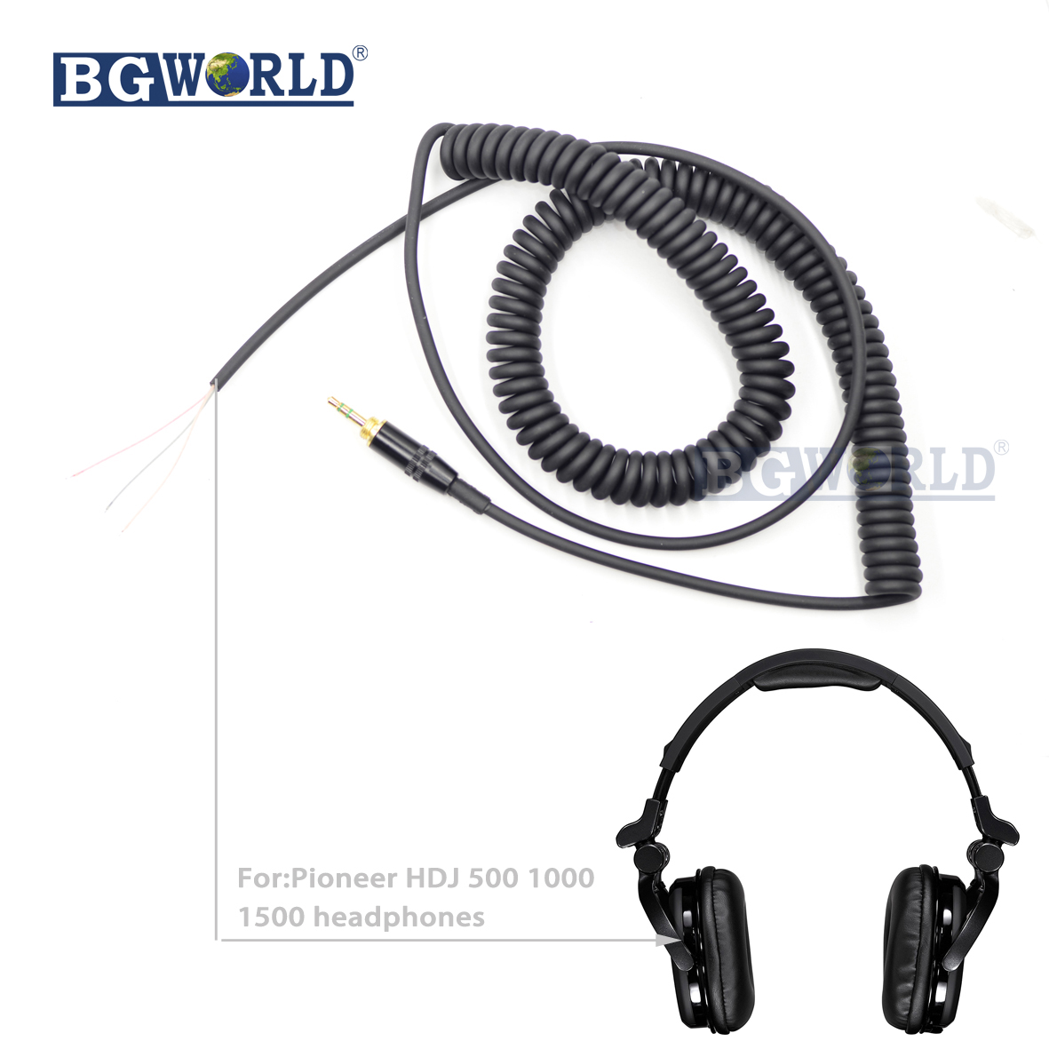 bgworld replacement dj headphone cable cord line earphone cables for pioneer hdj500 hdj1000