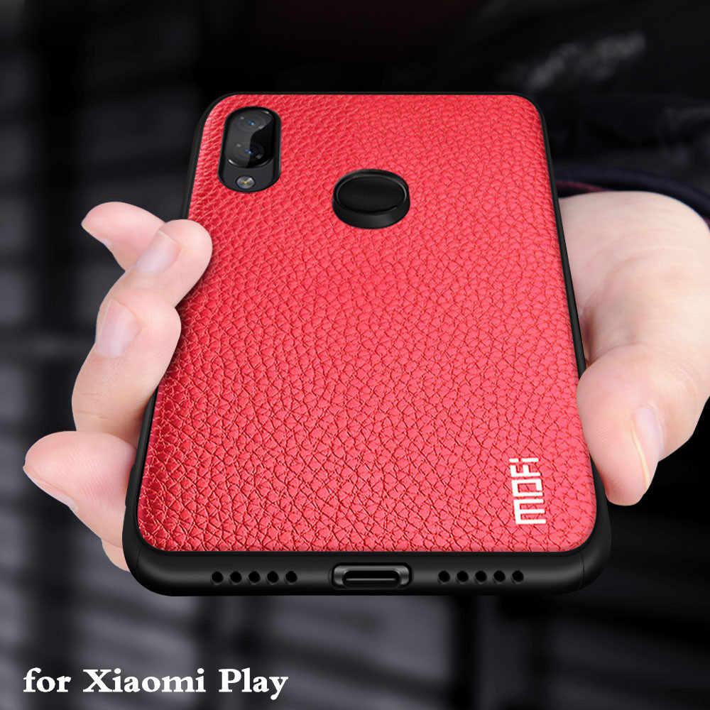 Для Xiao mi Play чехол для mi Play задняя крышка силиконовый ударопрочный чехол Capas MOFi оригинальный для Xio mi Play PU кожаный чехол-книжка