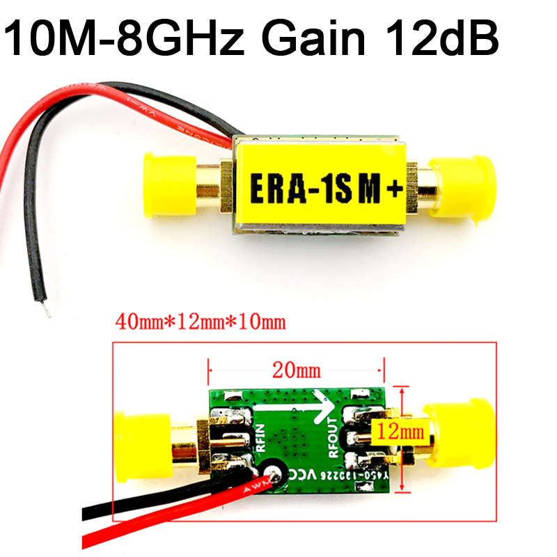 10Mhz 8GHz LNA Broadband Gain 12dB RF Amplifier Low Noise ERA 1 Module FOR  FM HF VHF / UHF Ham Radio AmplifierS|Integrated Circuits| - AliExpress
