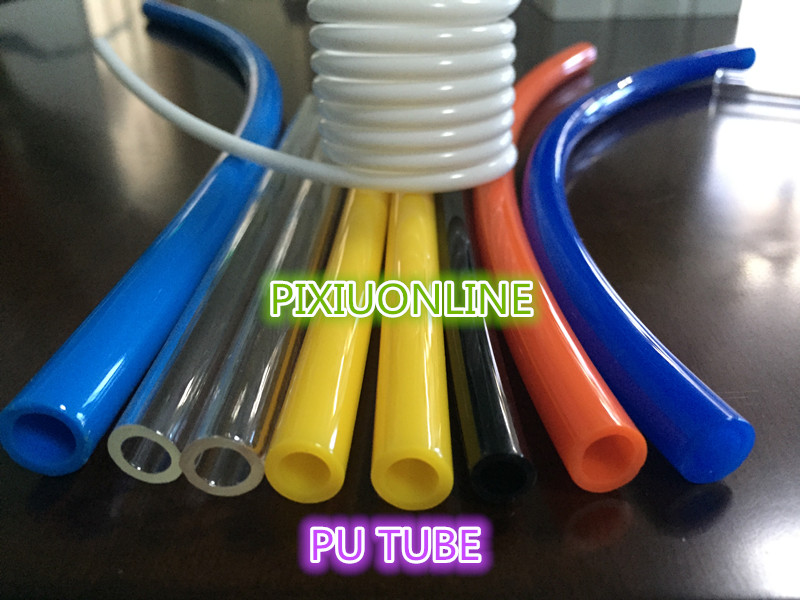 1PCS/LOT YT892B PU TUBE Pneumatic Hose Air Compressor Pipe Polyurethane Tube OD 10 mm* ID 6.5 mm Plumbing Hoses 1Meter Free Ship industrial air compressor pu 6x4mm flexible pneumatic tube hose pipe black 4m long free shipping