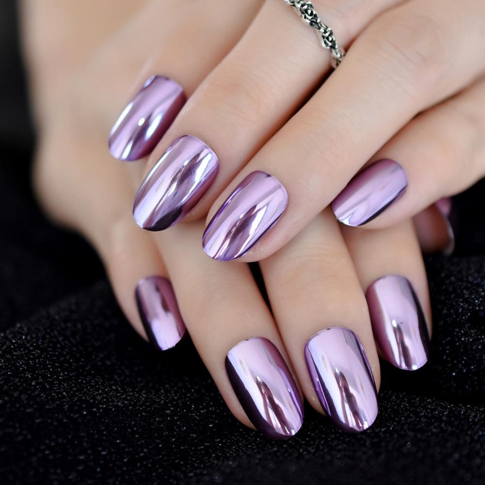 charming purple mirror