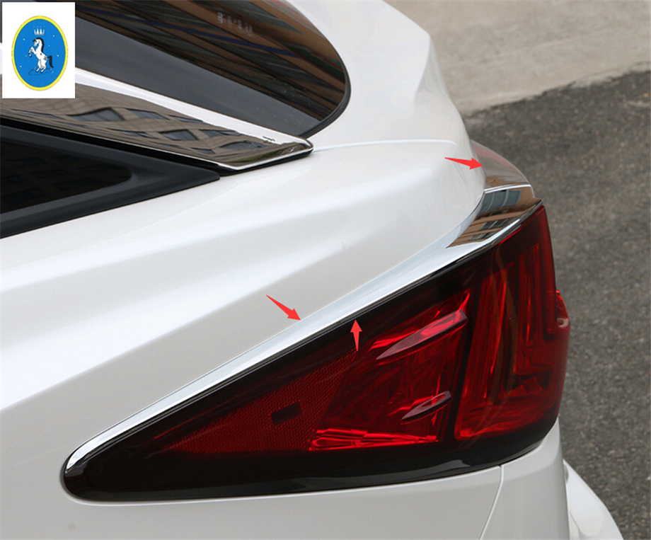 Yimaautotrims Auto Accessory For <font><b>Lexus</b></font> <font><b>RX</b></font> RX450h 2016 <font><b>2017</b></font> 2018 2019 2020 Chrome Rear Trunk Lamp Lights Eyebrow Cover Trim image