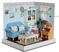 Diy  Doll House Miniature Model Building Kits 3D Handmade Wooden Dollhouse Christmas Gift and Birthday Gifts-Happy Moments