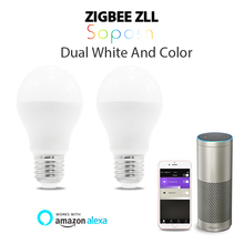 GLEDOPTO 6W RGB+CCT led bulb Zigbee zll lingt link rgbww/cw compatible with Amazon Echo plus  and many gateways colorful