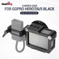 SmallRig Action Camera Vlogging Cage for GoPro HERO 7 / 6 / 5 Black For Microphone Flash Light DIY Options Aluminum Case CVG2320