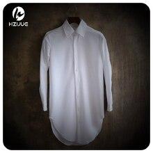 HZIJUE повседневные рубашки мужские хлопковые дизайнерские брендовые облегающие мужские рубашки с длинным рукавом белые рубашки для мужчин весенняя одежда