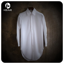 HZIJUE 2017  Casual Shirts Men Cotton Designer Brand Slim Fit Man Shirts Long Sleeve White Shirts For Men Clothes Spring