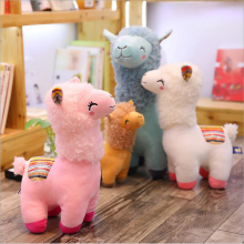 New Style Cute Smile Alpaca Plush Toys Stuffed Animal Doll Toy Children Gift Valentines Day Gifts