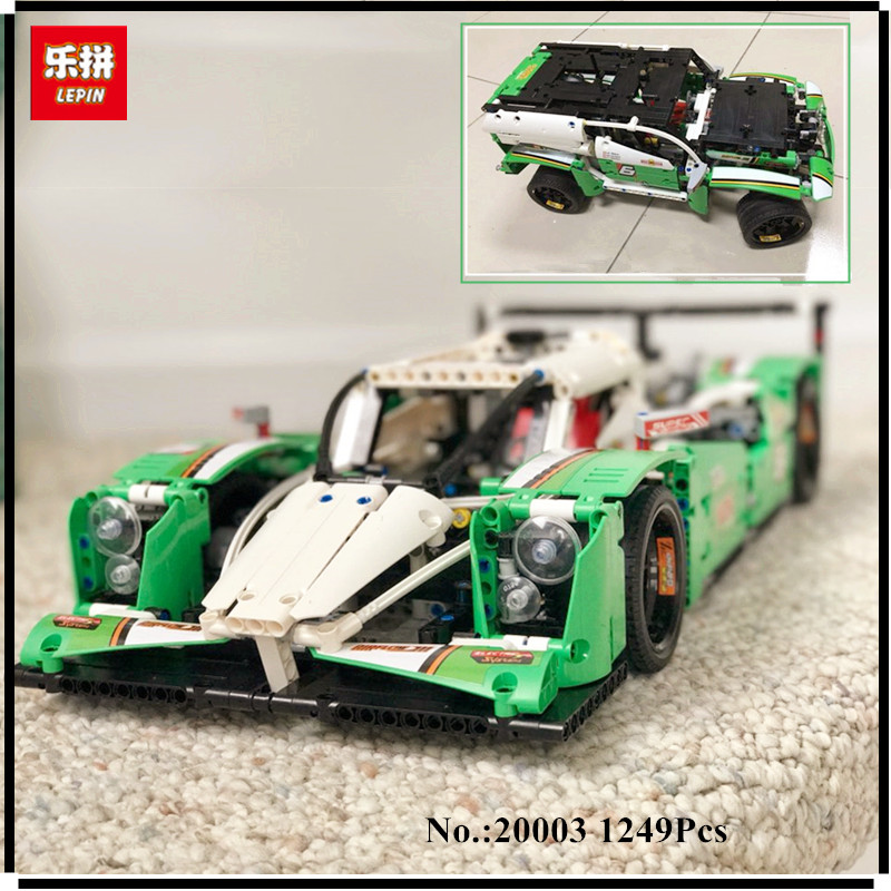 IN STOCK LEPIN 20003 Technic Series The 24 hours Race Car Building Assembling Blocks Bricks 1250 Pcs Toys Compatible with 42039 china brand 3364 educational toys for children diy building blocks 42039 technic 24 hours race car compatible with lego