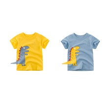 Children Clothes Dinosaur Kids T-shirts Boy T Shirt School Cute Toddler Girl Tshirt Short Sleeve 2019 Summer Fashion Clothes(China)