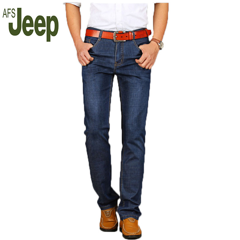 ФОТО Battlefield Jeep AFS JEEP 2016 spring new men's jeans fashion classic straight men's casual trousers stretch jeans 75